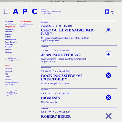 Réalisation du site CAPC en drupal