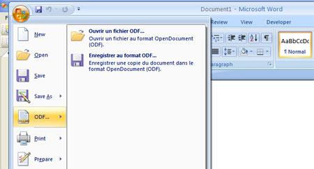 Convertisseur entre les formats OpenXML et OpenDocument