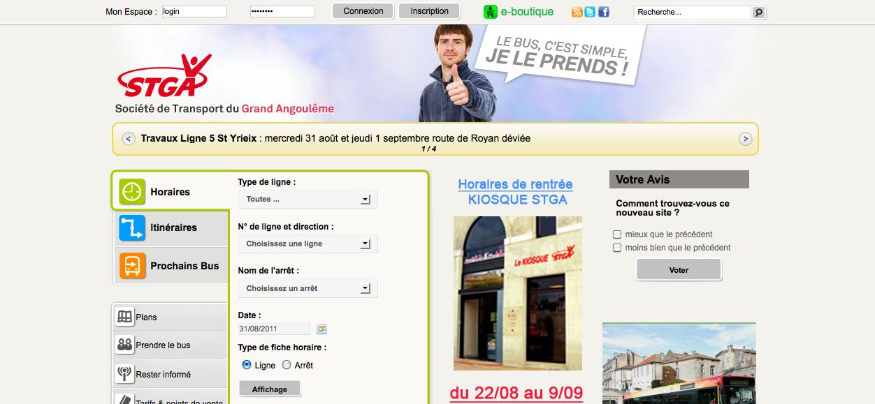 Refonte du site www.stga.fr