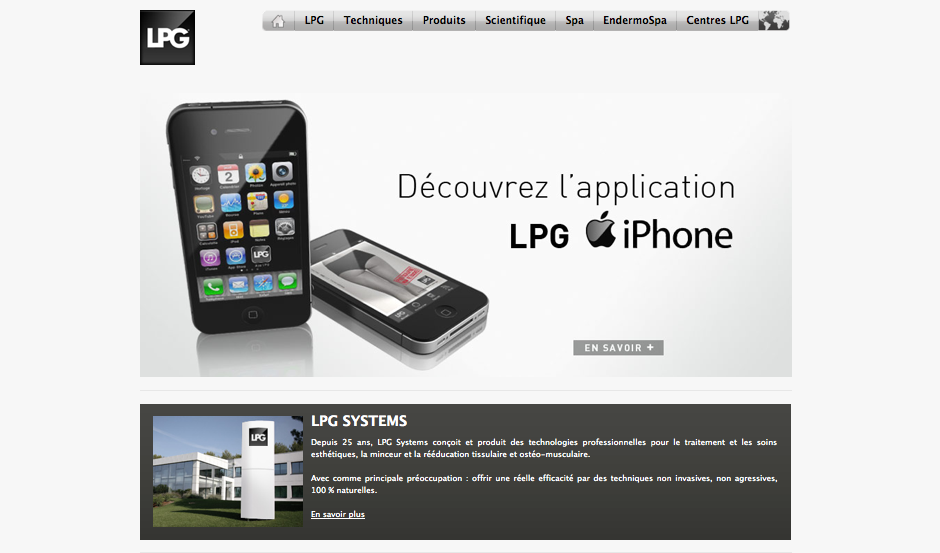 Screenshot de LPG e-Commerce