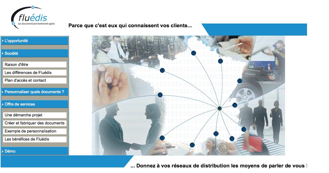 Screenshot de l'application de création de PDF en ligne fluédis