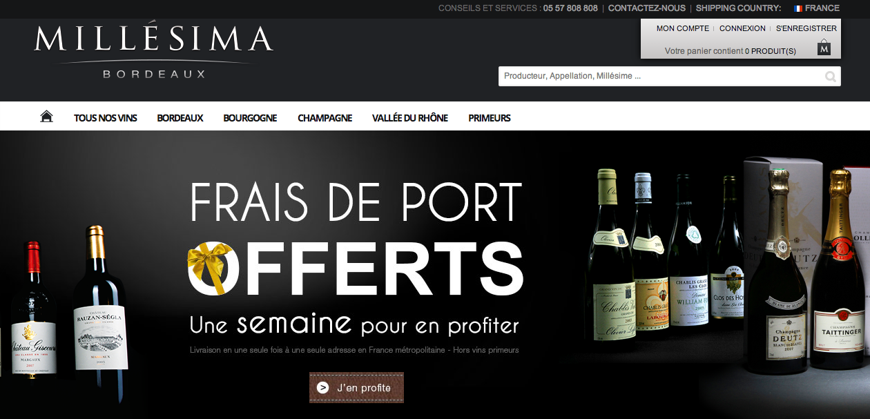 Audit du site e-commerce Millesima.fr