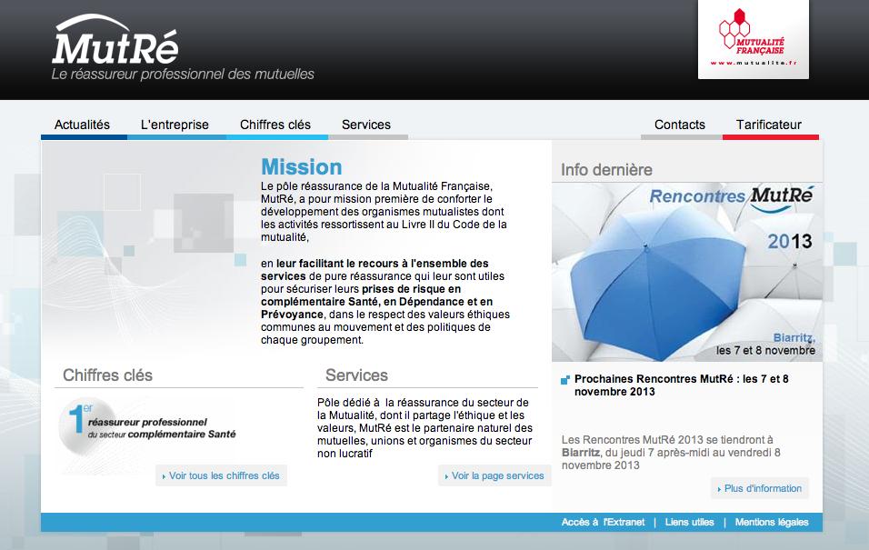 Intégration graphique du nouveau site de MUTRE