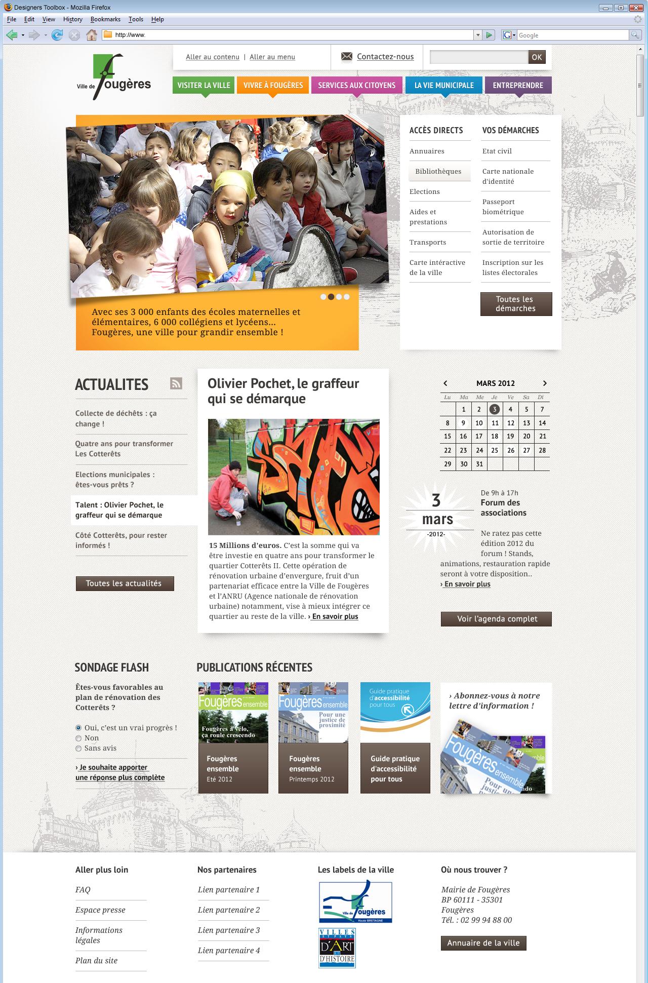 Refonte du site internet de la ville de Fougères