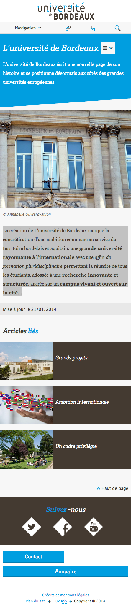 Refonte du site internet de l'Université de Bordeaux