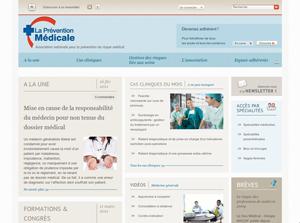 """création du site Association """"Prévention Médicale"""""""