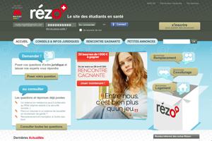 """création de """"Rézo+"""" : le site pratique des étudiants en santé"""
