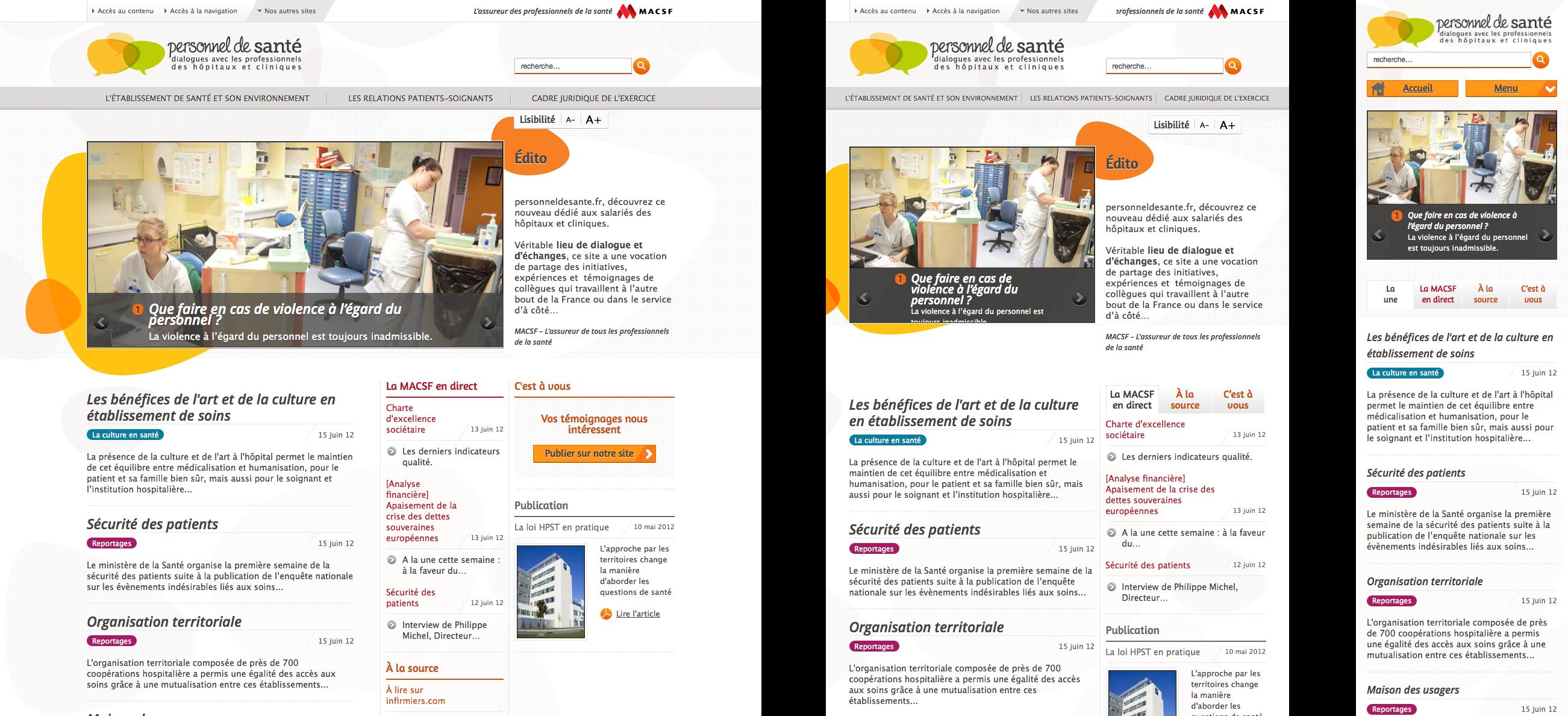 """""""Personnel de Santé"""" : le site responsive pour les hospitaliers MACSF"""