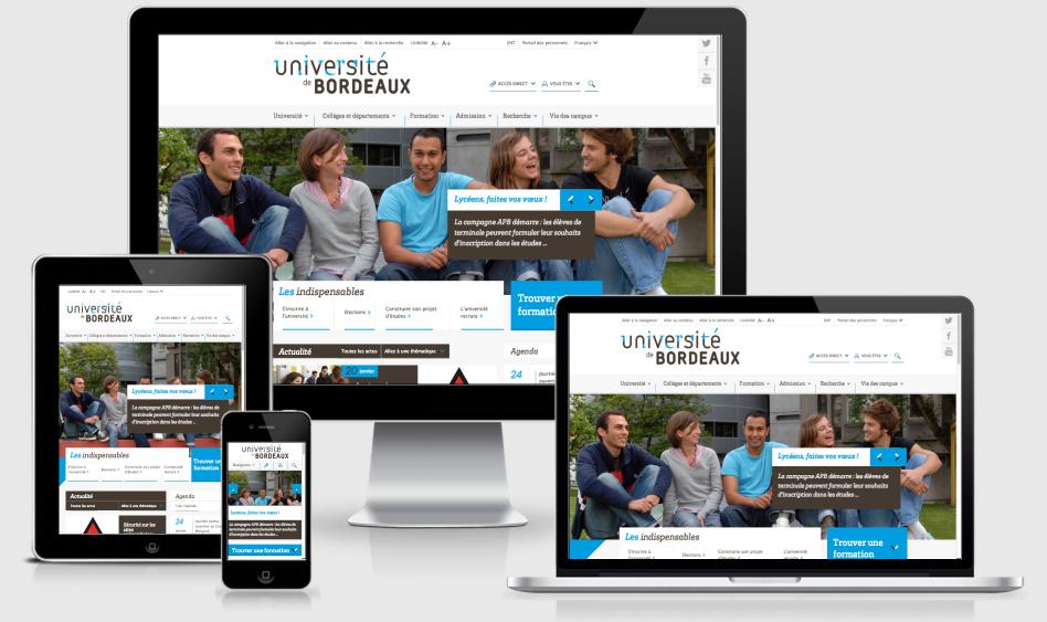 Refonte du site internet de l'Université de Bordeaux