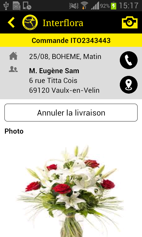 Interflora l'Application mobile