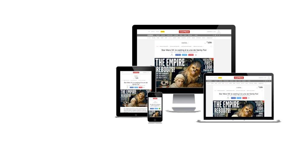 Refonte de L'Express en <br>Responsive Web Design