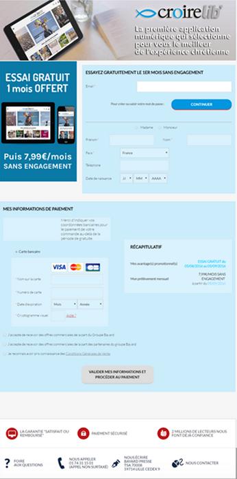 Bayard Presse Optimisation de parcours Magento
