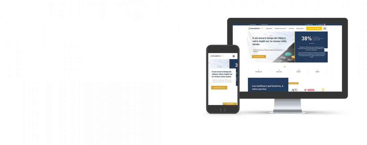 Création de la plateforme<br> financière mieuxplacer.com