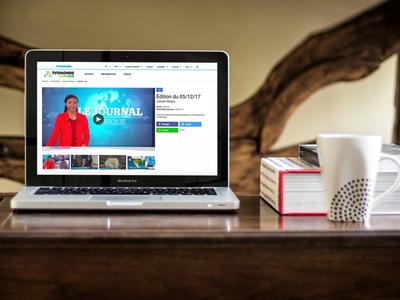 Visuel de la page vidéo du site TV5MONDE Afrique sur une ordinateur