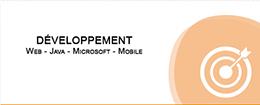 DÉVELOPPEMENT Web Java Microsoft Mobile