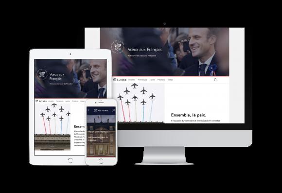 Visuel du site elysee.fr