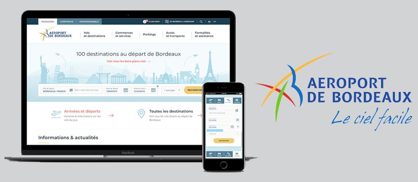 Refonte du site de l'Aéroport de Bordeaux