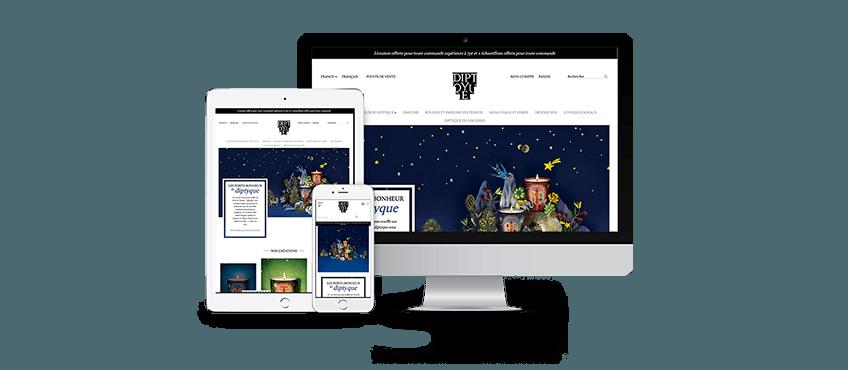 Refonte de la plateforme e-commerce Diptyque